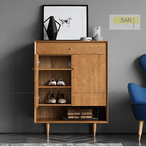 Tủ giày gỗ tự nhiên Classic SAN Decor