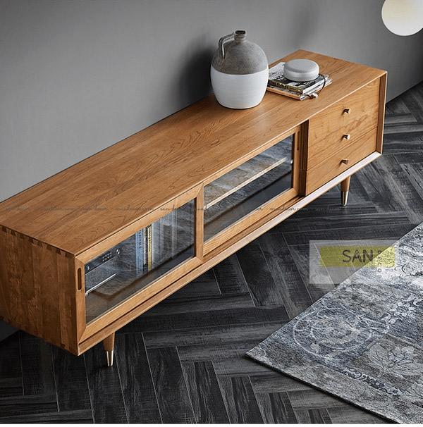 Kệ tivi gỗ tự nhiên Classic SAN Decor