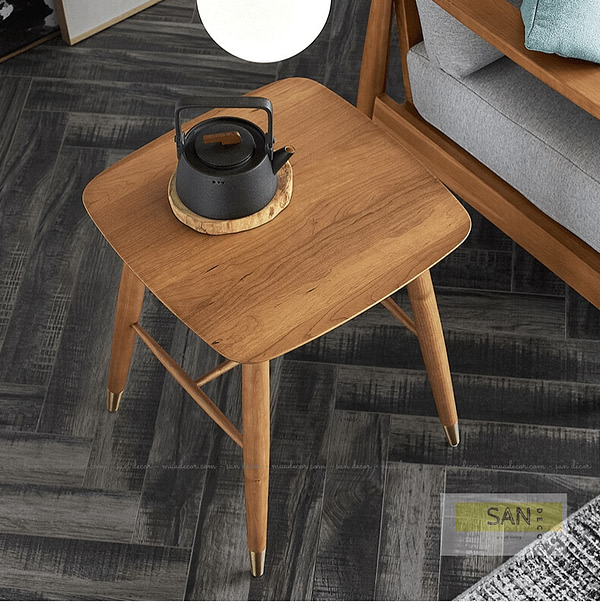 Đôn trà gỗ tự nhiên SAN Decor