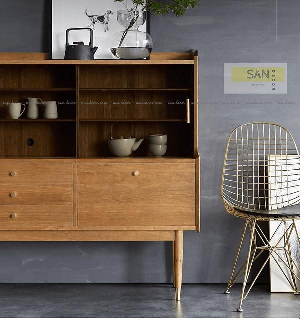 Tủ kệ bếp gỗ tự nhiên mini SAN Decor