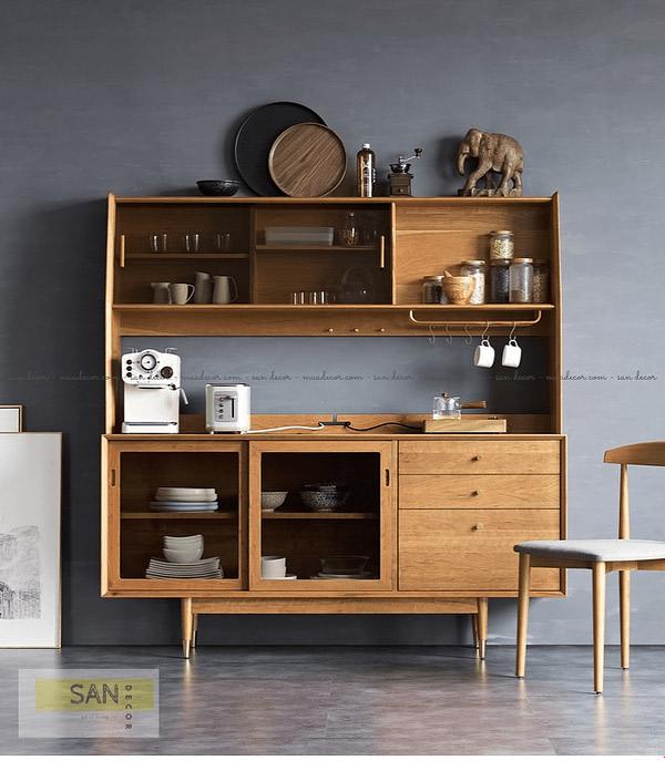 Tủ bếp gỗ tự nhiên Classic SAN Decor