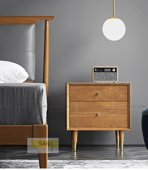 Kệ đầu giường gỗ tự nhiên Classic SAN Decor
