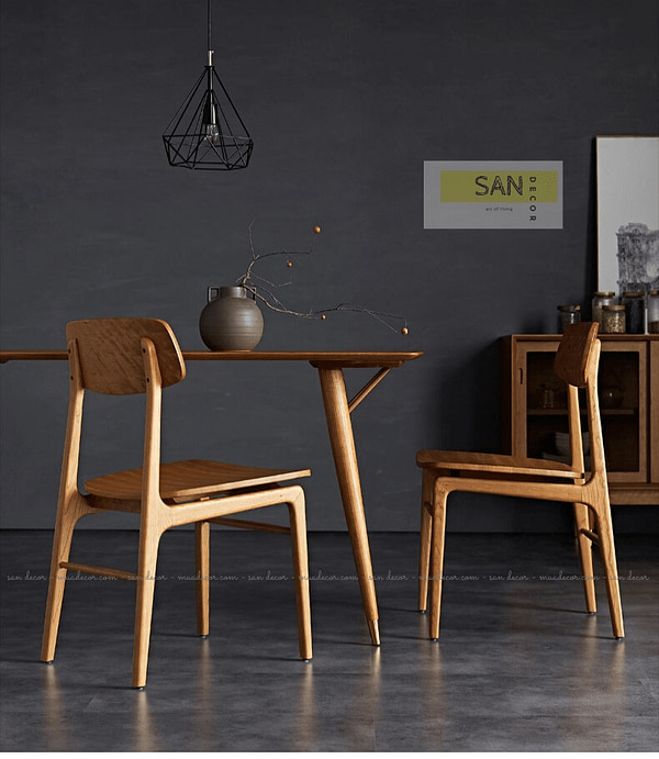 Ghế tựa gỗ tự nhiên Classic 2 SAN Decor