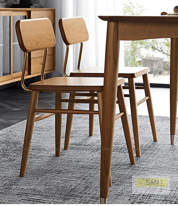 Ghế tựa gỗ tự nhiên Classic SAN Decor