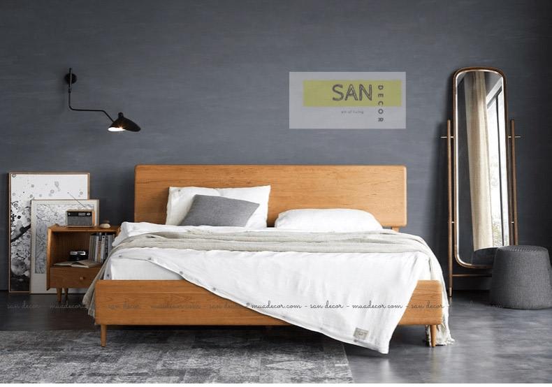 Giường ngủ gỗ tự nhiên Classic SAN Decor